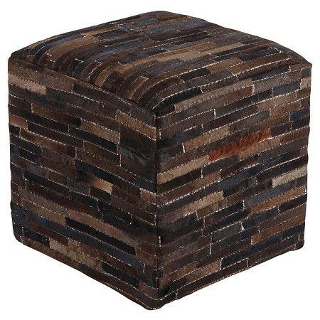 Cowhide Pouf - Ashley Furniture : Target