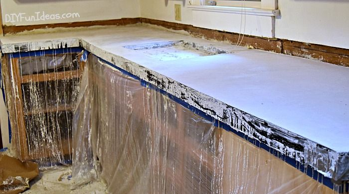 How To Make Diy Cast In Place White Concrete Countertops White