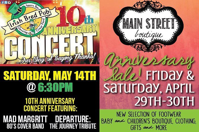 Make your plans today! Double Events! @irishbredpubcarrollton and @shopmainstreetboutique - Tag a Friend!
