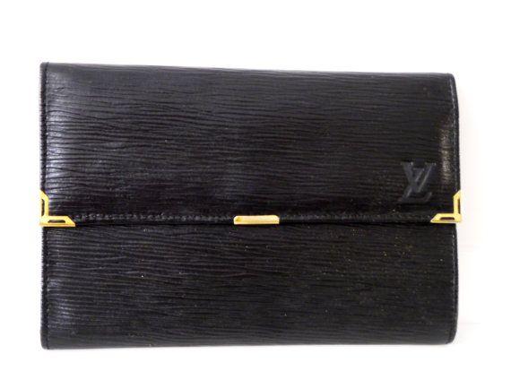 Original Louis Vuitton Vintage Wallet Black by BelledeJourVintage