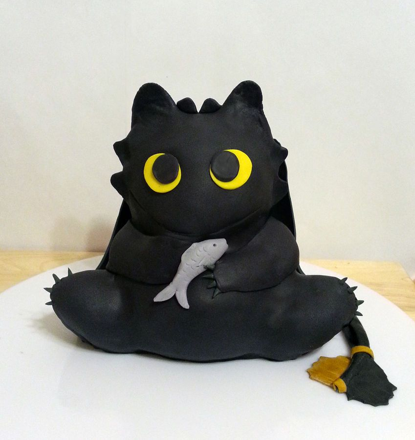Baby Toothless The Dragon Cake From How To Train Your