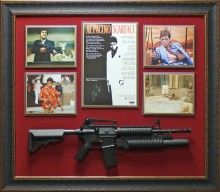 Al Pacino Autographed Scarface Poster Framed Display Autographed