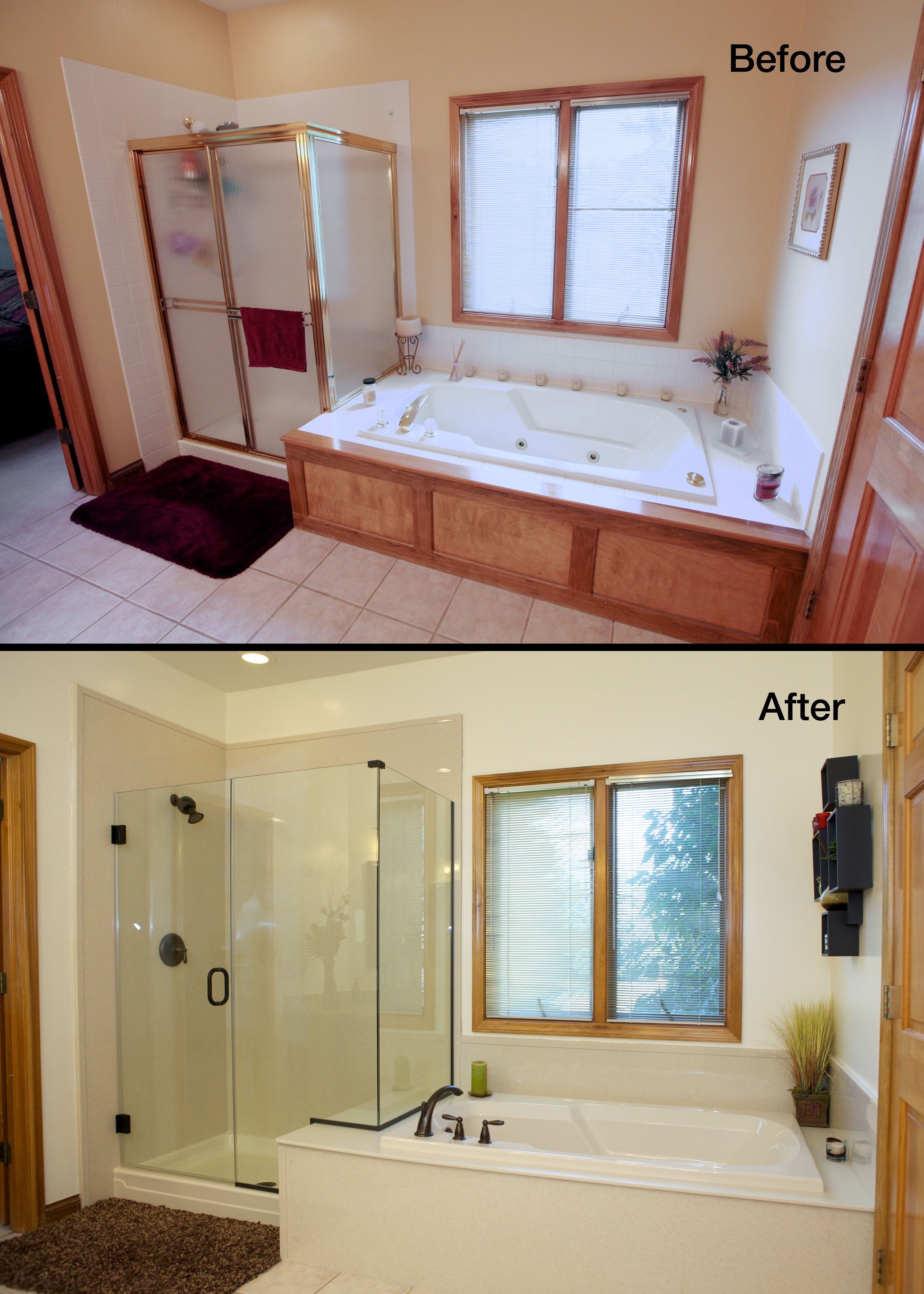 Doug Natalie S Master Bath Before After Pictures Home Remodeling Contractors Bathrooms Remodel Bathroom Renovations