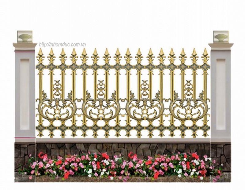 Hàng rào nhôm đúc biệt thự, chất liệu hợp kim nhôm đúc, bền đẹp, sang trọng sơn tĩnh điện hiện đại, sản xuất trên công nghệ đúc chân không công nghệ Nhật