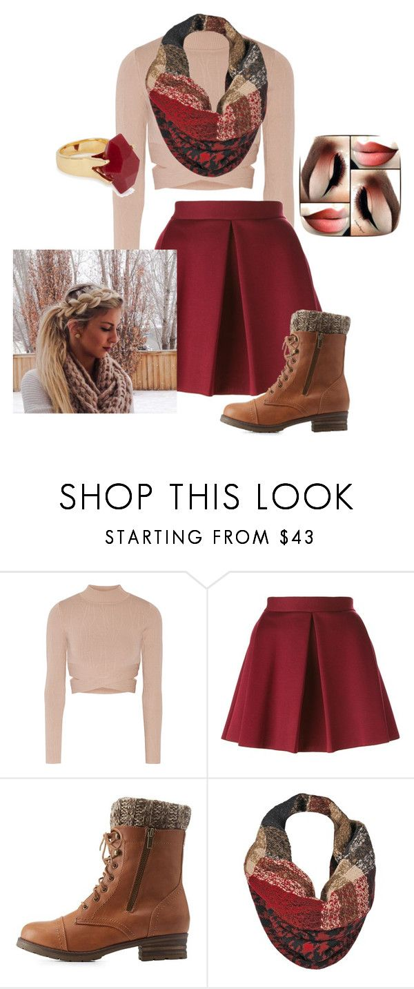 """""""FALL Outfit #2"""" by oliviagrace26 ❤ liked on Polyvore featuring Jonathan Simkhai, P.A.R.O.S.H., Charlotte Russe, Black Rivet and Lola Rose"""