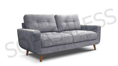 New Aurora 3 2 Seater Sofa Settee Suite Armchair Foam Seats Grey