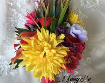 Lily and Rose Bouquet Rose and Lily Bouquet by MerryMeBouquets