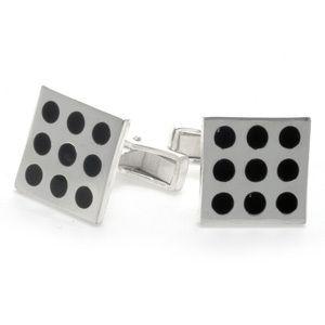 Sterling Silver Enamel Square Dice Cuff Links | eBay $24  #SeaofDiamonds #SOD #Fashion #Men #Jewelry #Cuff #Links #CuffLinks #Deals