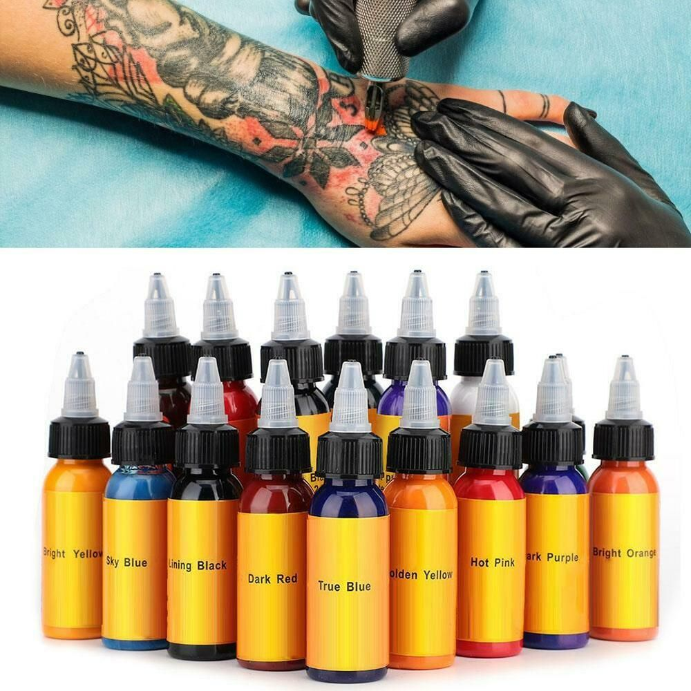 Ebay Sponsored Natural Tattoo Airbrush Temporary Tattoo Ink Body Art Paint Pigment For Airbrush With Images Temporary Tattoo Ink Ink Tattoo Tattoo Ink Sets