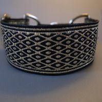 Black & Gold Diamond Martingale Collar