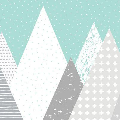 Kids Mountains Wallpaper Peel And Stick Kertas Dinding Kertas