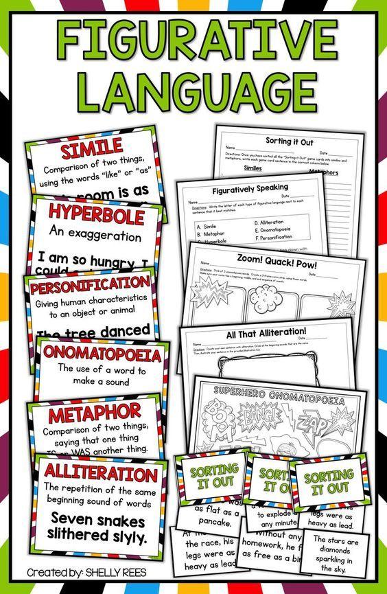 Figurative Language Activities Pinterest Figurative Language