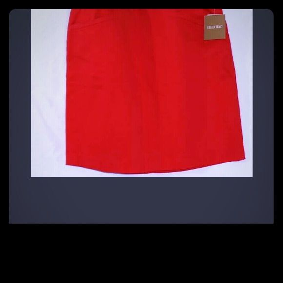 NWT Ellen Tracy Orange Skirt sz 14 Size 14 NWT Ellen Tracy orange skirt. Knee length, gorgeous color (almost a blood orange) and A-line.   Super cute! Don't forget our * * * Fire Sale! ! * * *  10 % discount on 2nd item and 15 % Off 3rd! Every order recieves a FREE gift! Ellen Tracy Skirts A-Line or Full