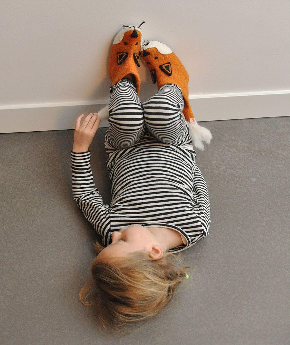 Foxy felt slippers