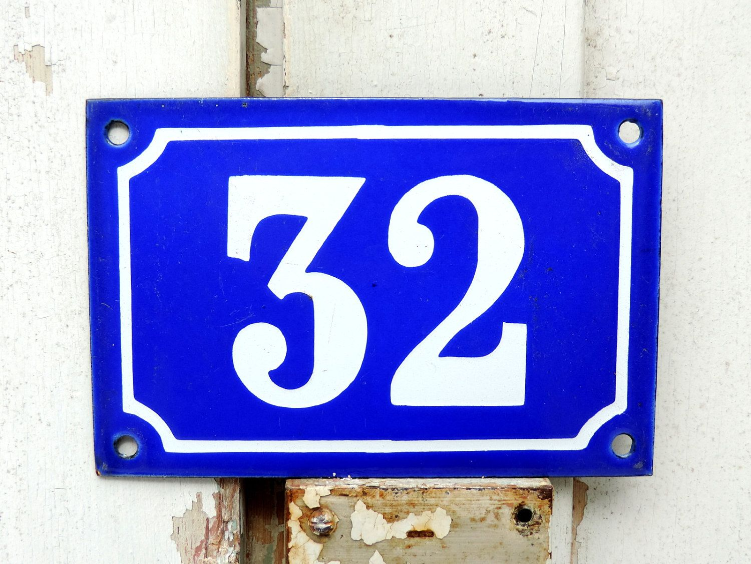 French Vintage Blue And White Enamel House Number Sign French Vintage Number 32 House Plaque French House Numb House Plaques French Vintage House Number Plaque