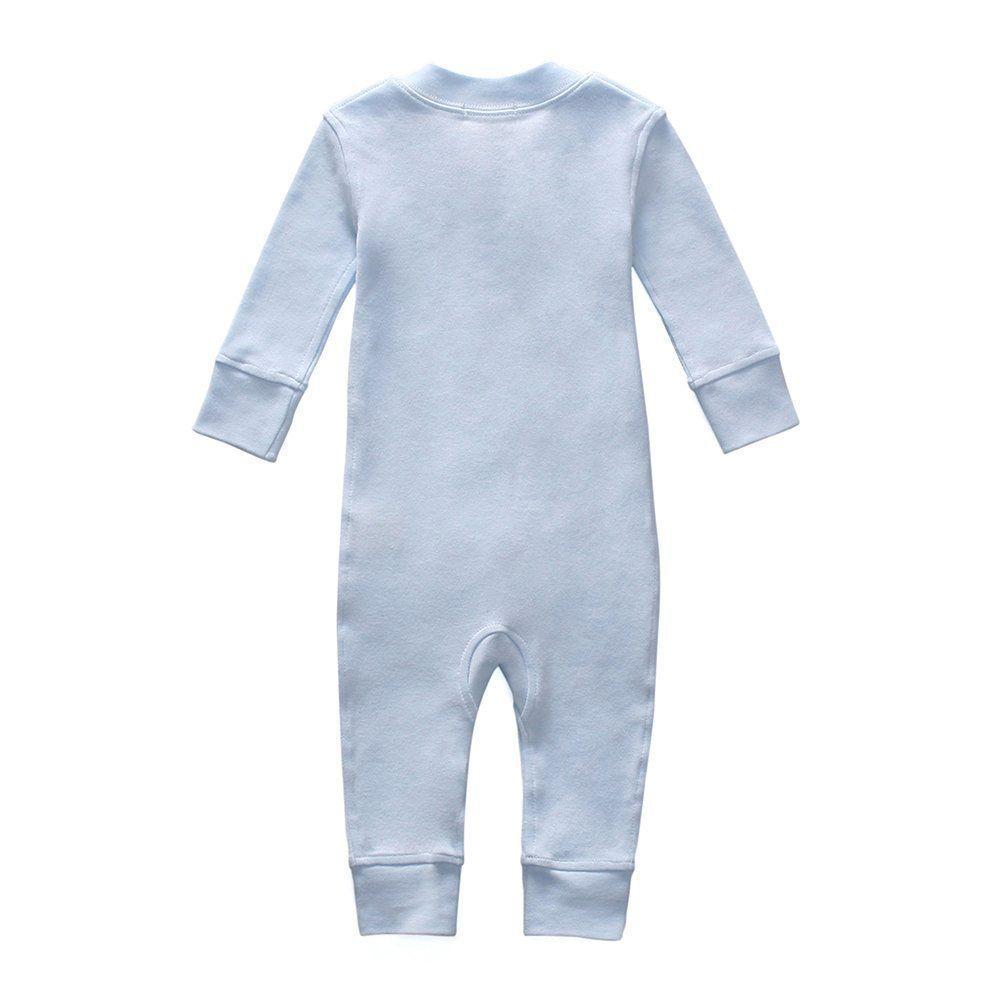 0dcaaa9d90 Owlivia Organic Cotton Baby Boy Girl Zip Front Sleep N Play Pajama Sleeper  Footless Long Sleeve