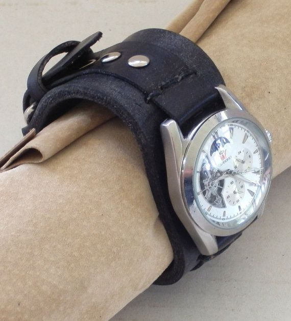 Silver Tone Men's Automatic Sun and Moon by FoxAndDragon on Etsy, $69.99