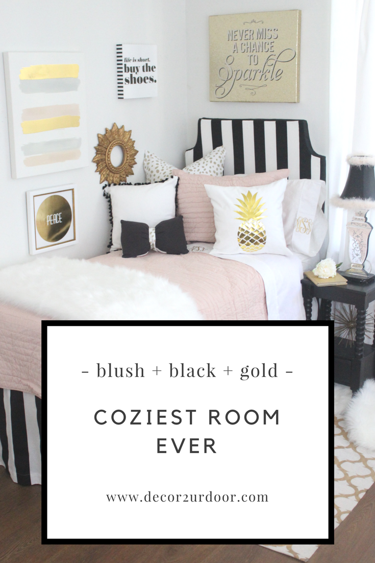 Did We Make You Blush This Designer Dorm Bedding Features Crisp And Clean White Mauve Toned Blush And Dorm Bedding Sets Dorm Bedding College Dorm Room Decor