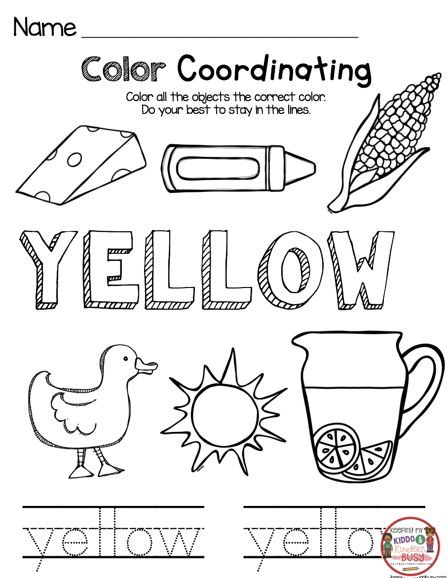 Kindergarten Back To School Printables And Worksheets For The First Week In Kinde Color Worksheets For Preschool Kindergarten Lessons Kindergarten Lesson Plans [ 1172 x 908 Pixel ]