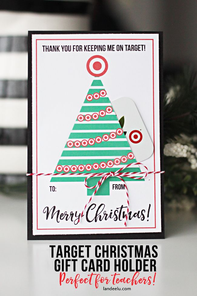 Teacher Gift for Christmas Target Gift Card Holder Teacher - free printable christmas gift certificate