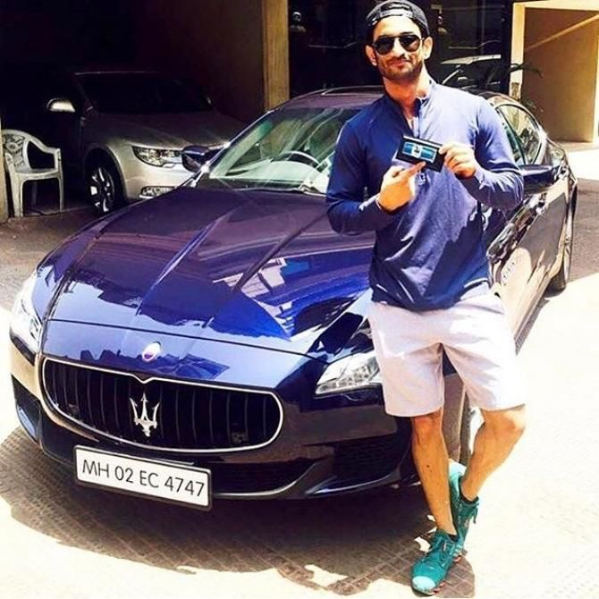 Sushant Singh Rajput Takes Kriti Sanon On A Romantic Drive In His Brand New Car Sushant Singh New Cars Maserati