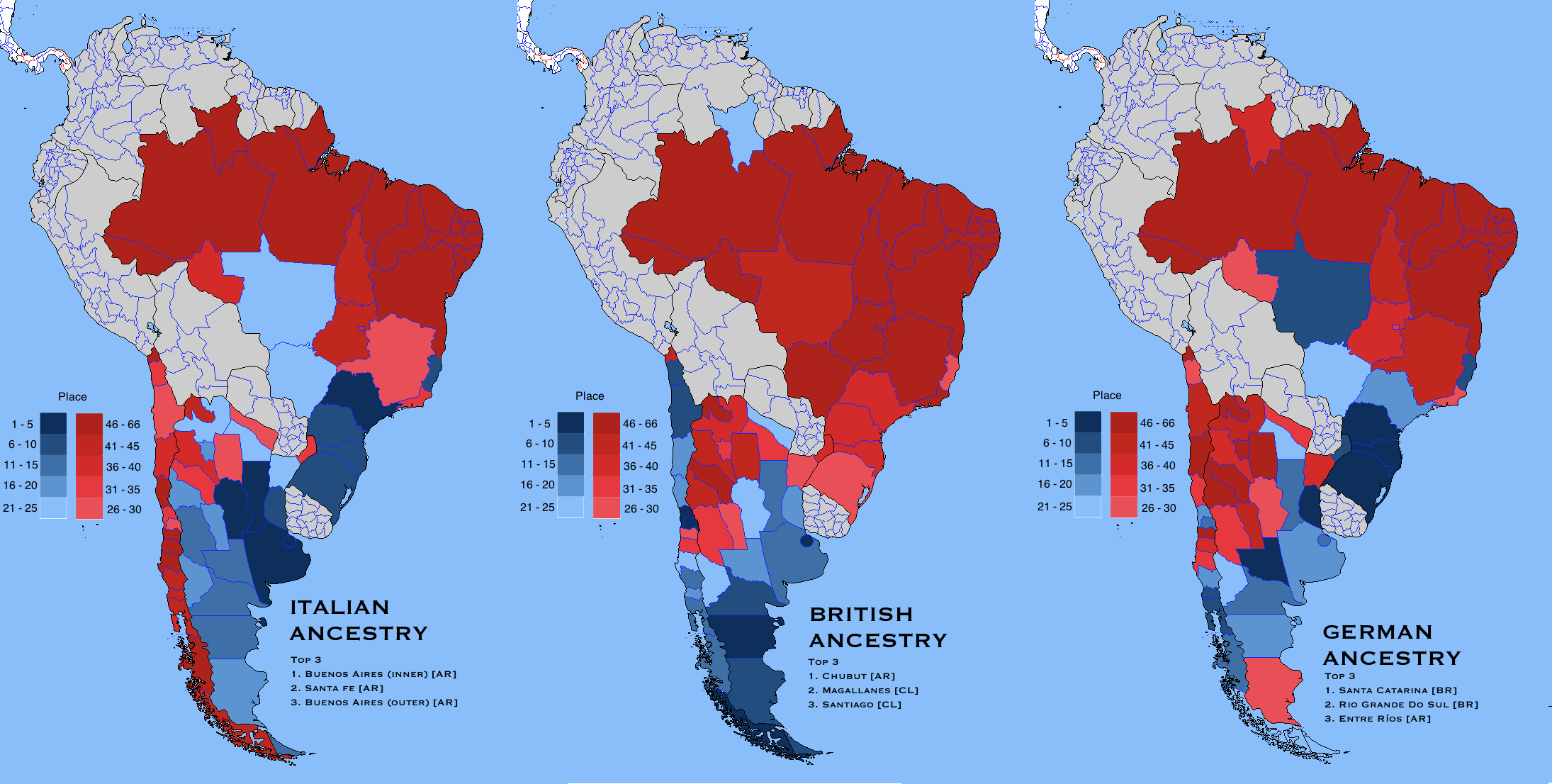 Italian British And German Regions In South America By Nahuelacevedopena Map Southamerica
