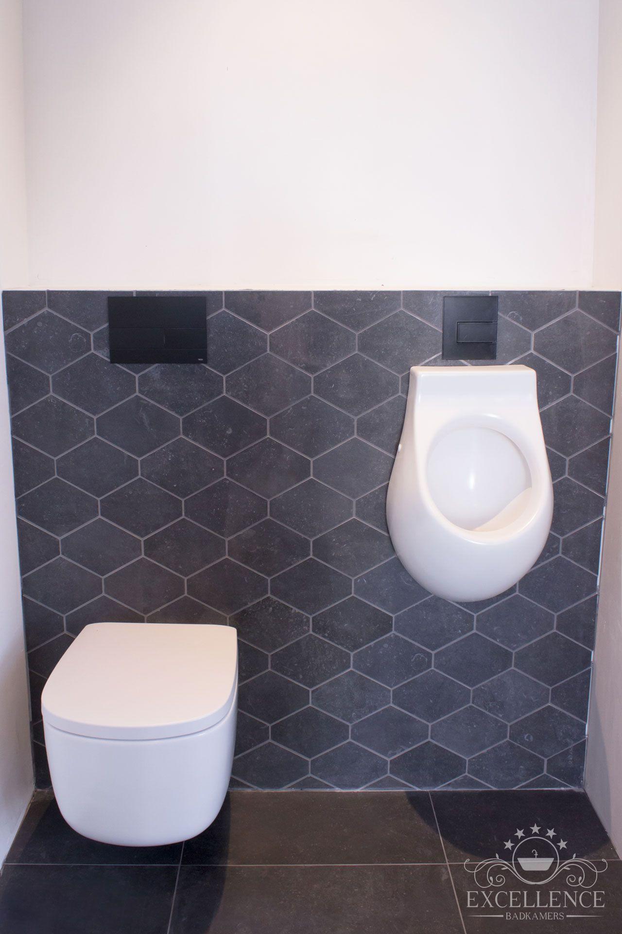 Maatwerk badkamer. Design wandcloset mat wit. Design urinoir mat wit ...