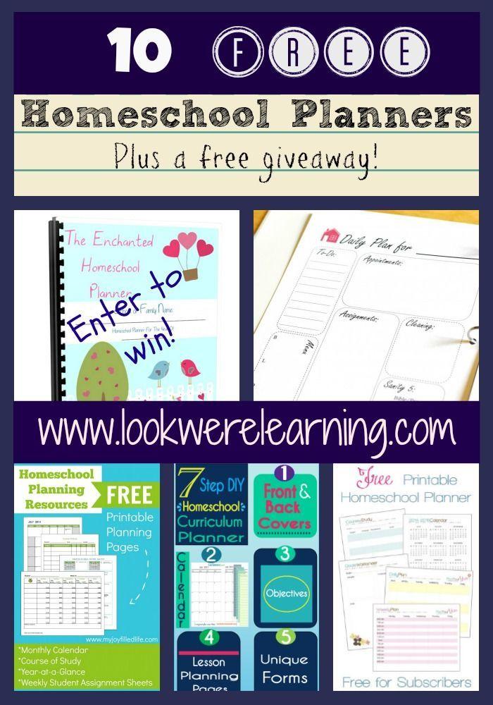 10 Free Homeschool Planners Homeschool, Homeschool