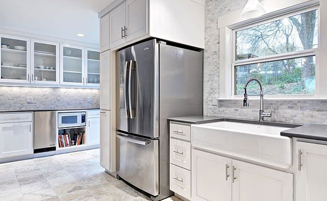 White Gray Marble Mosaic Tile Backsplash   Backsplash.com | Kitchen  Backsplash Products U0026 Ideas