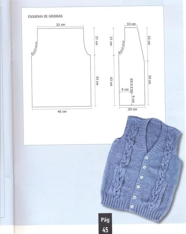 Patrones de chaleco para hombre. | tejidos invierno | Pinterest ...
