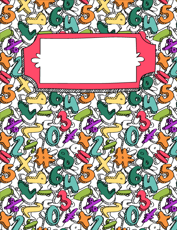 Free Printable Math Doodle Binder Cover Template Download The In JPG Or PDF Format At Bindercovers