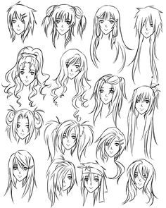 Anime Hairstyles For Girls Ponytail Hair Pinterest Hair Sketch