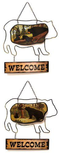 Bear Welcome Plaque in Two Styles, Price Each Bear Welcome Plaque in Two Styles, Price Each by Unbranded, http://www.amazon.com/dp/B00C7N09Q8/ref=cm_sw_r_pi_dp_cnrZrb158874X