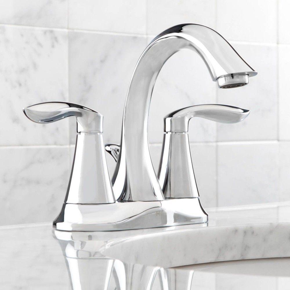 Moen 6410 Eva Polished Chrome Two Handle Centerset Bathroom Faucets Bathroom Faucets Polished Chrome Faucet