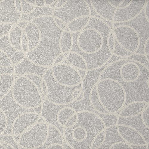 Brewster 408 82832 Paint Plus III Gravity Paintable Concentric Circle Paintables Wallpaper