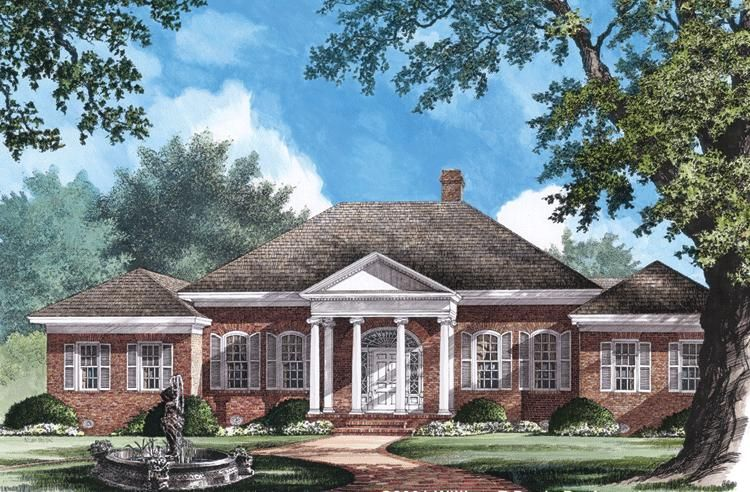House Plan 7922 00190 Traditional Plan 3 600 Square Feet 4 Bedrooms 3 5 Bathrooms Colonial House Plans Southern House Plans Georgian Style Homes
