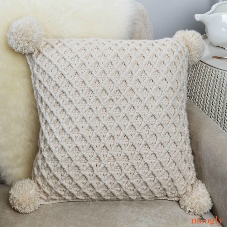 Hygge Diamond Pillow - Free Crochet Pattern on Moogly