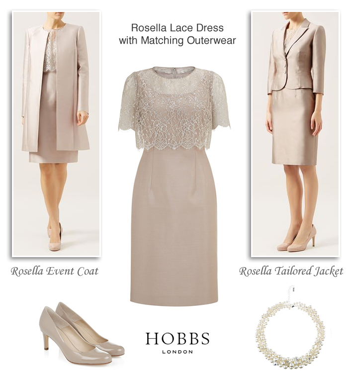 Hobbs Occasion Dresses Lace Layered Oyster Beige Shift Dress Silk Wool Coat Tailored Jacket To Match Two Piece Spring Summer Wedding Guest Outfits