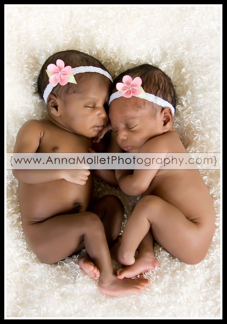 Newborn black twin babies newborn photographer anna mollet photography blog savannah newborn