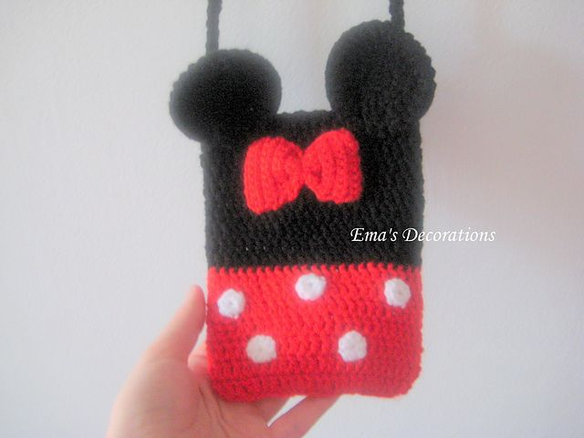 Minnie Mouse Crochet Bag pattern by Ema Patrichi | Mejores ideas ...
