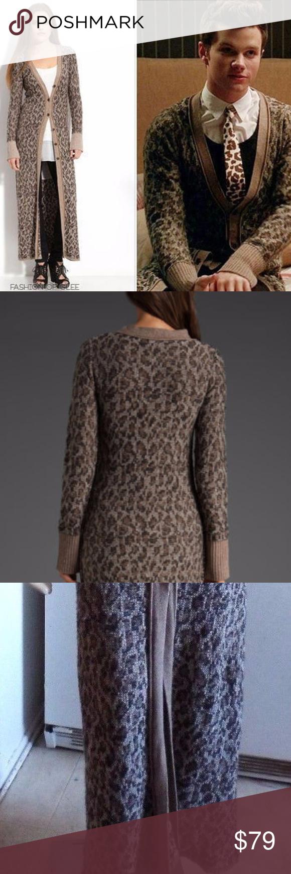 Free People Cat Leopard Maxi Cardigan Sweater Coat | Maxi cardigan ...