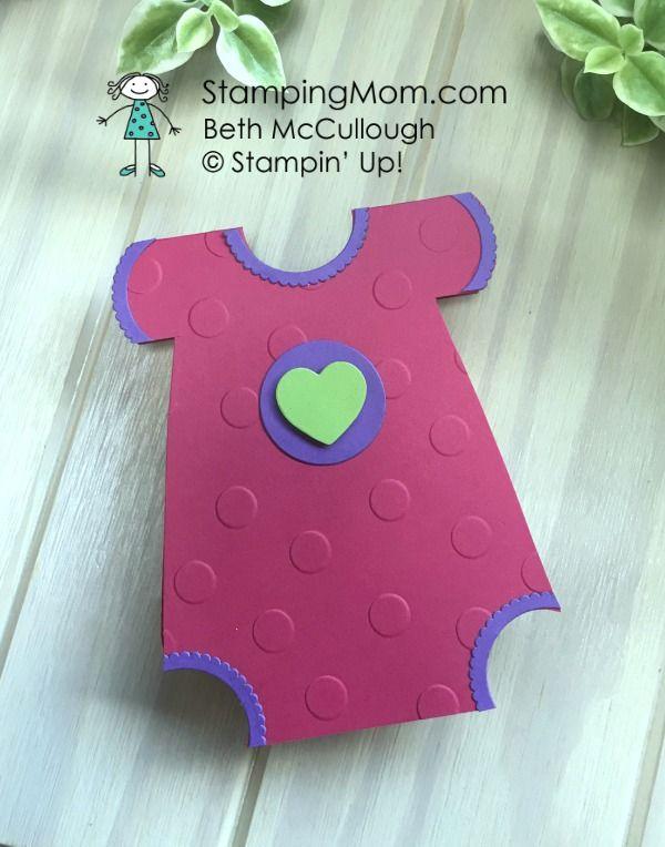 stampin up baby onesie card designeddemo beth