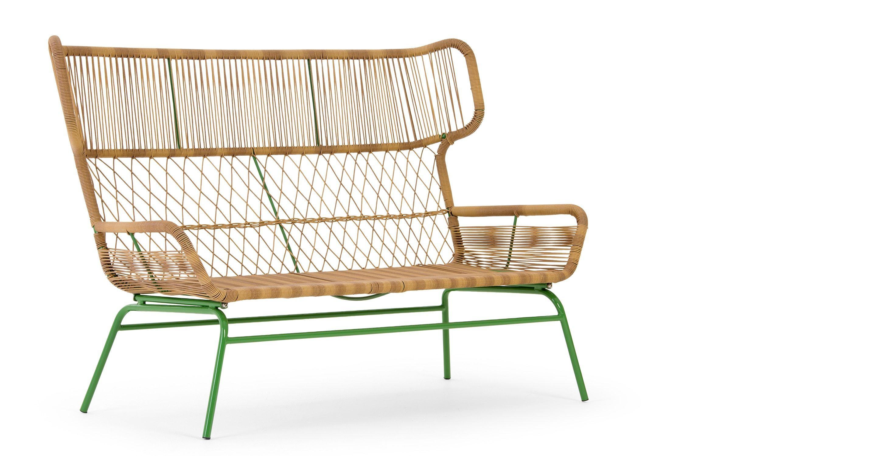 Lyra 2-Sitzer Gartensofa, Grün - MADE.COM Jetzt bestellen unter ...