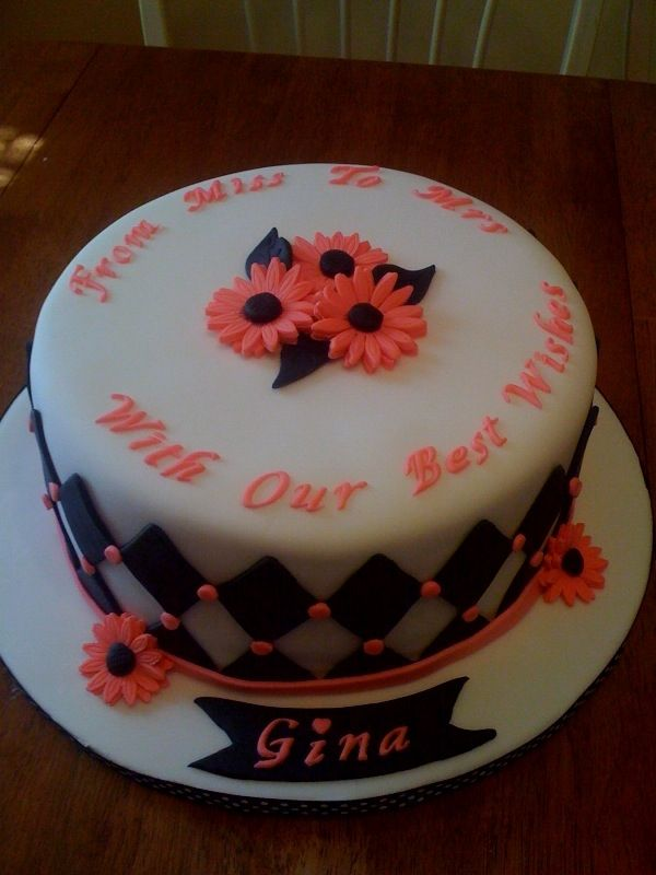 from miss to mrs with our best wishes bridal shower cake