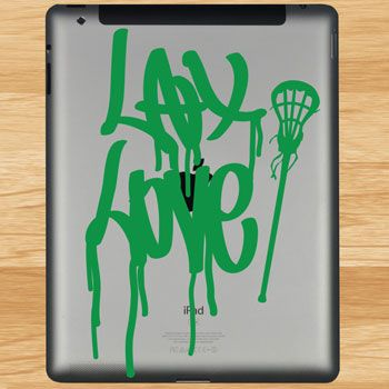 Lax Love Removable ChalkTalkGraphix Tablet Decal   Lacrosse Tablet Stickers    Lacrosse iPad Stickers   Lacrosse · Laptops And TabletsGirls ...