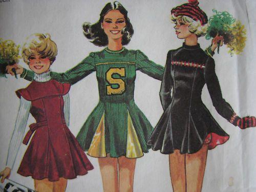vintage cheerleader costume pattern