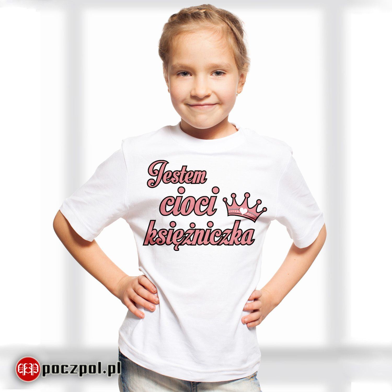 806de2584 Jestem cioci księżniczka - koszulka dziecięca #księżniczka  #koszulkadziecięca #koszulkaznadrukiem #ciocia