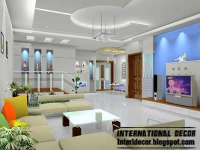 10 False ceiling modern design interior living roomHome sweet