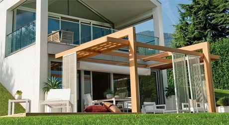 P rgolas en el frente de la casa modelos de p rgolas para for Modelos de patios