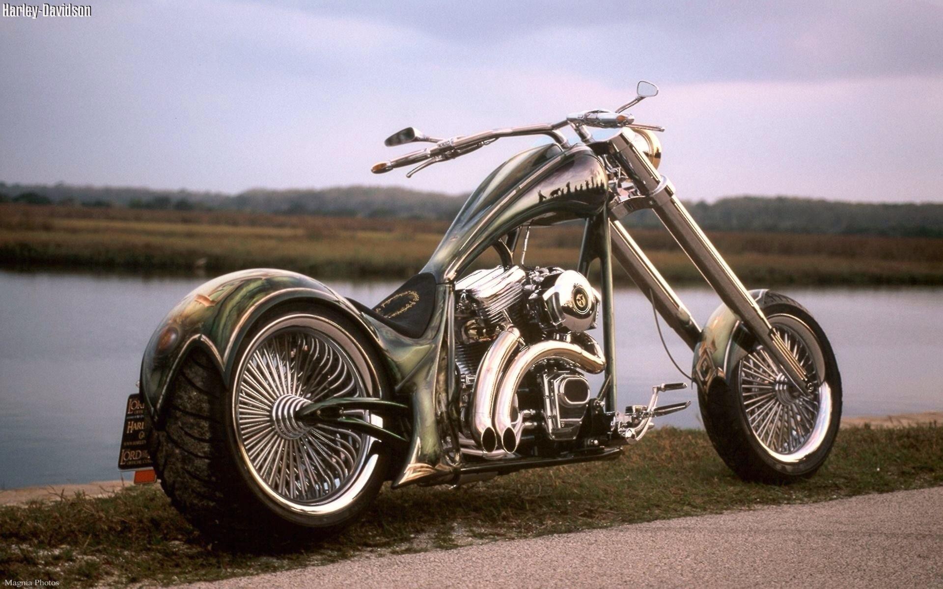 Custom Chopper Harley Davidson Chopper Motorcycle Wallpaper